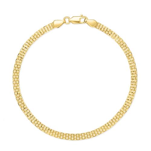 Złota Bransoletka Ozdobny Splot 20cm pr. 585