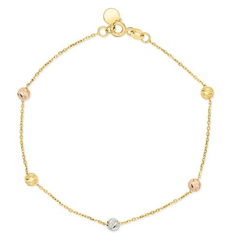 Złota bransoletka - Zdobione Koraliki pr.585