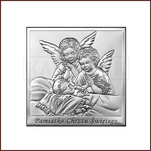 Srebrny Obrazek - Pamiątka Chrztu Świętego