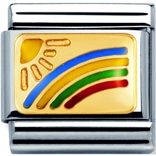 Nomination - Link 18K Gold 'Tęcza' 030208/01