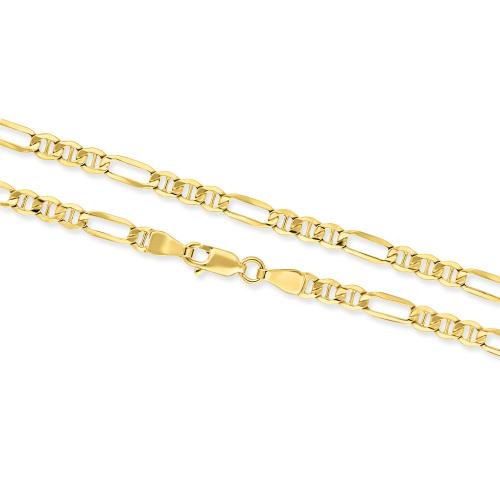 Złoty Naszyjnik Figaro 45cm pr. 585