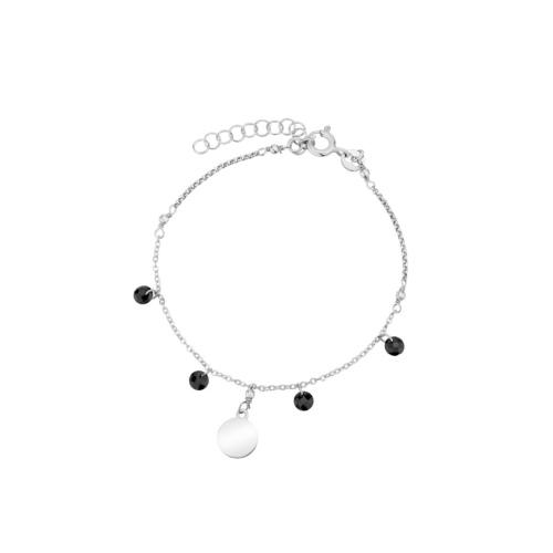 Srebrna bransoletka z kryształkami - Moneta pr.925