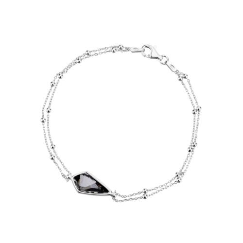 Srebrna bransoletka - Kryształ pr.925