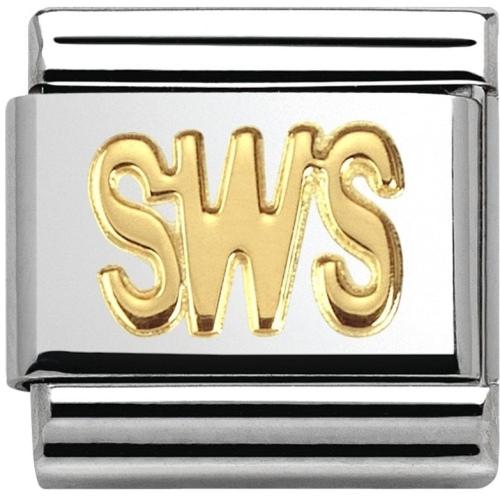 Nomination - Link 18K Gold 'SWS' 030107/25