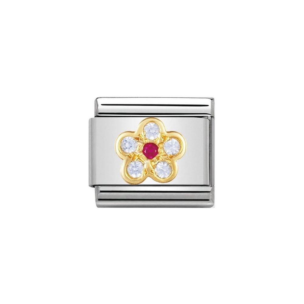 Nomination - Link 18K Gold 'Kwiatek' 030312/06