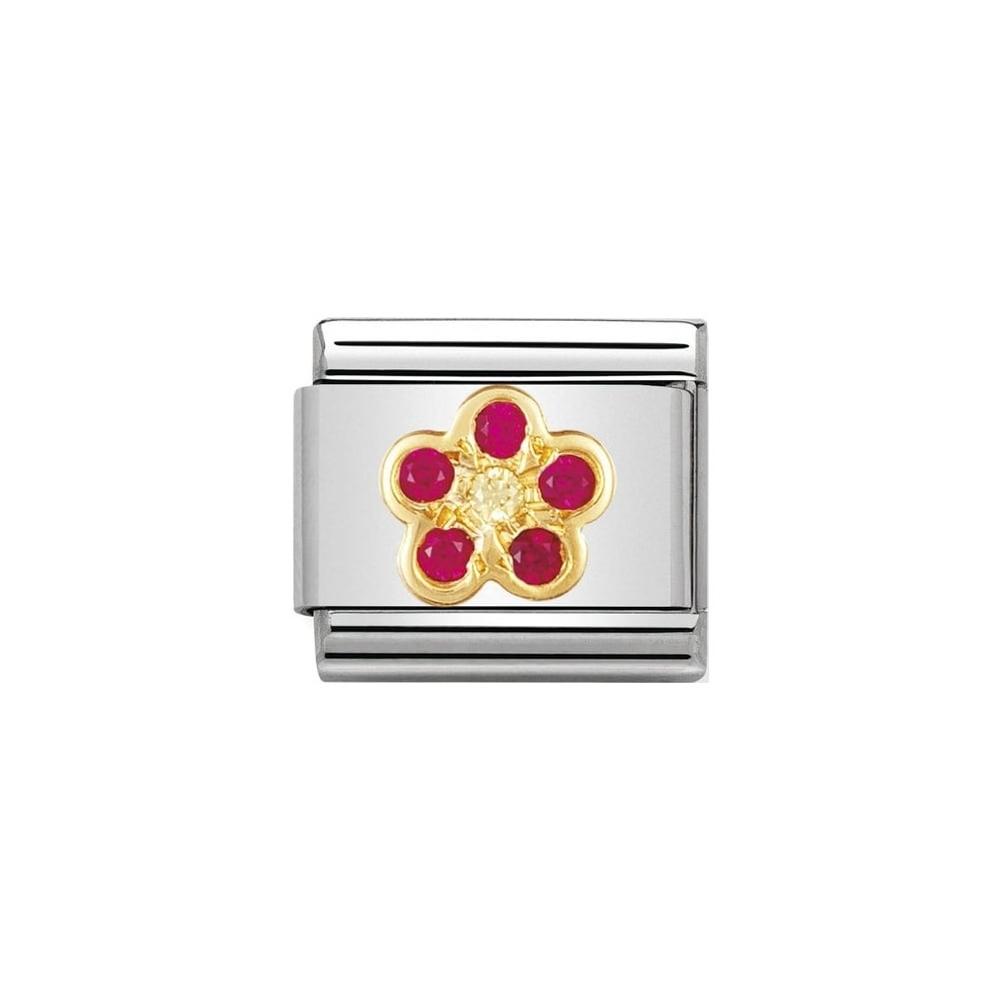 Nomination - Link 18K Gold 'Kwiatek' 030312/09