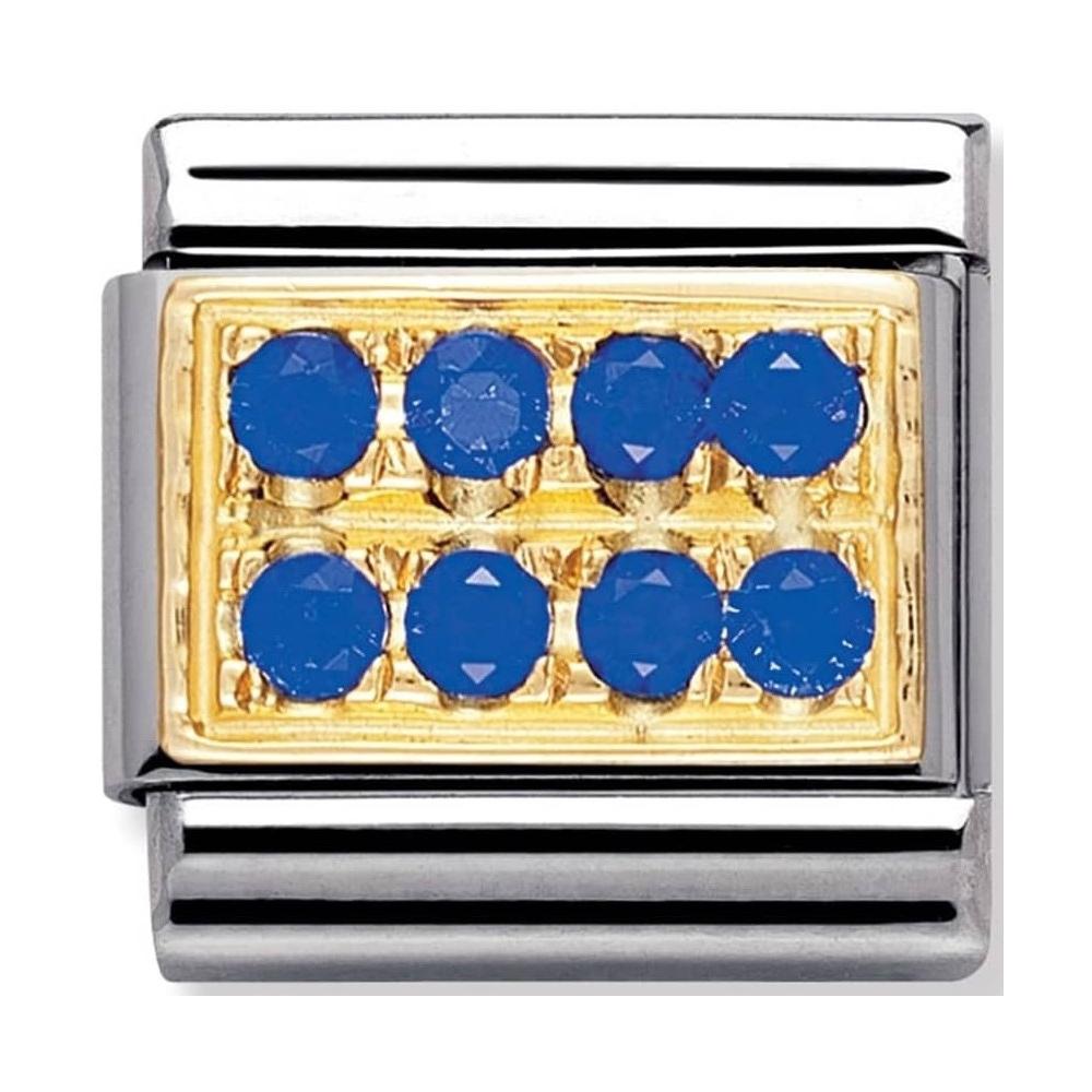 Nomination - Link 18K Gold 'Niebieskie Cyrkonie' 030314/04