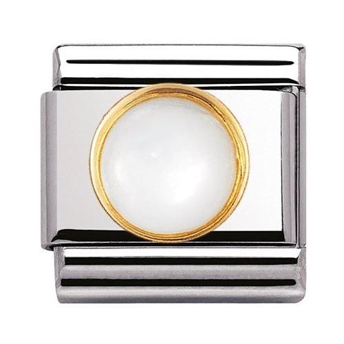 Nomination - Link 18K Gold 'Biała Perła' 030503/13