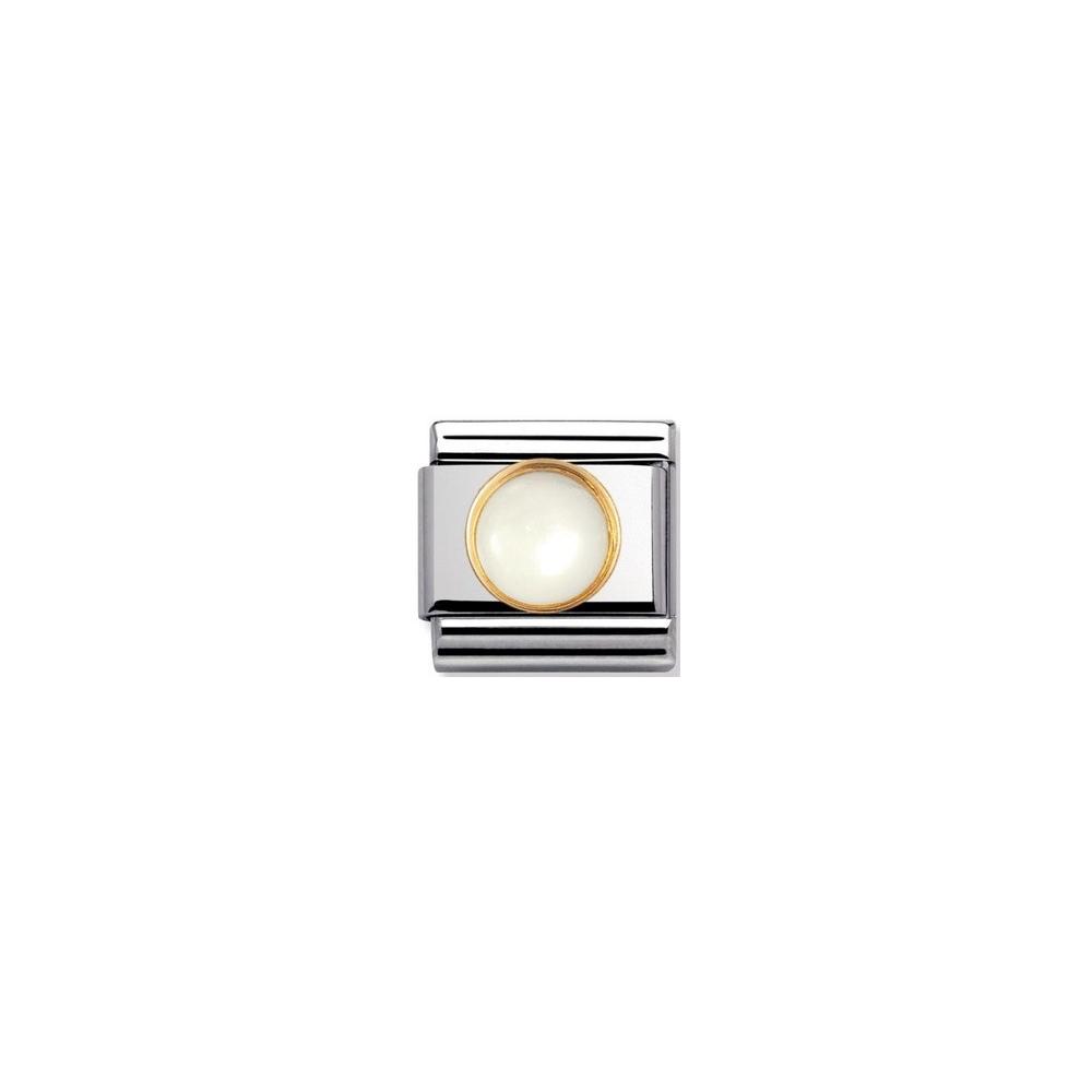 Nomination - Link 18K Gold 'Kamień Księżycowy' 030503/17