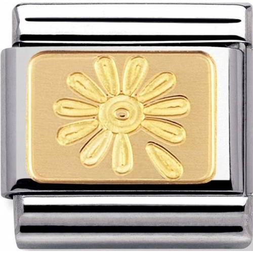 Nomination - Link 18K Gold 'Rainbow Flower' 030148/10