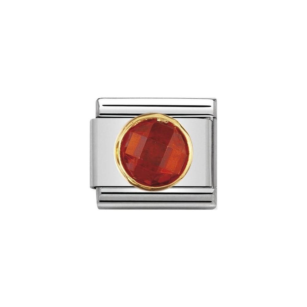 Nomination - Link 18K Gold 'Czerwona Cyrkonia' 030605/026
