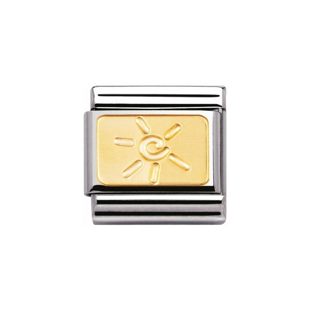 Nomination - Link 18K Gold 'Zeisler Sun' 030125/15