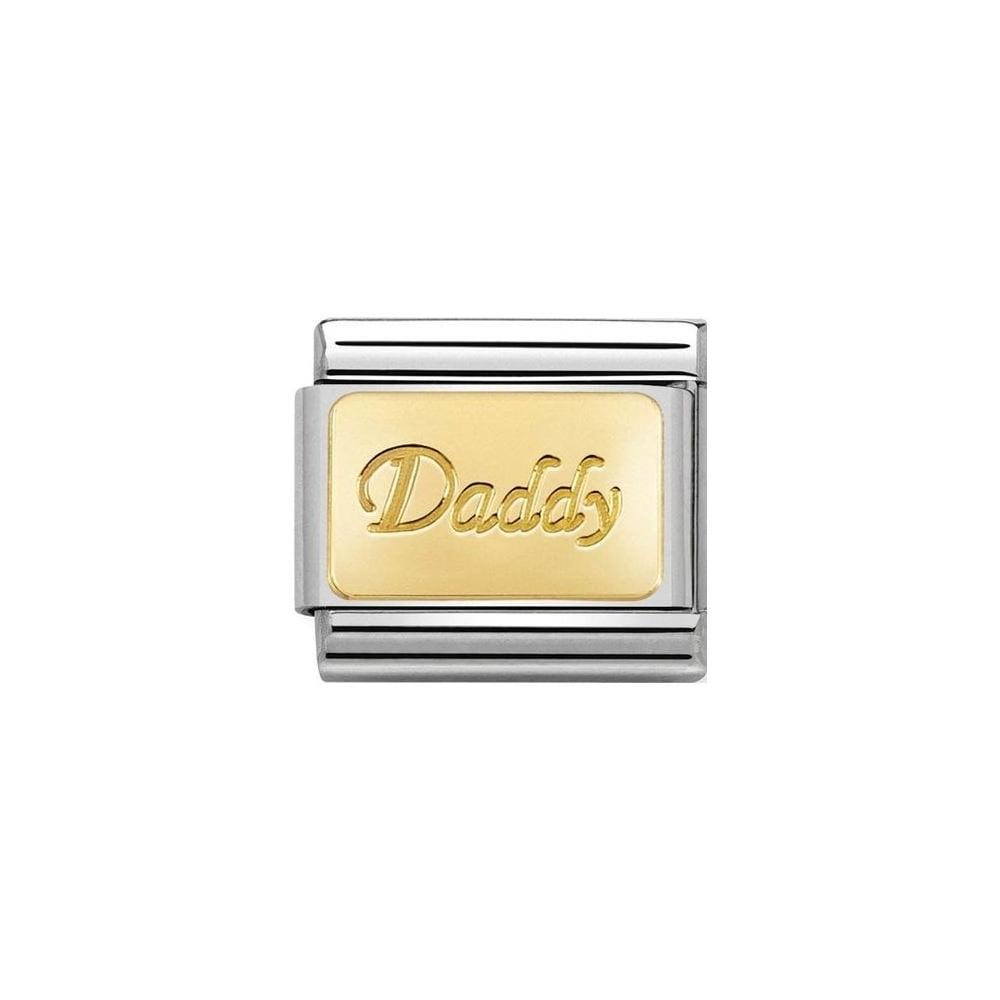 Nomination - Link 18K Gold 'Daddy' 030153/18