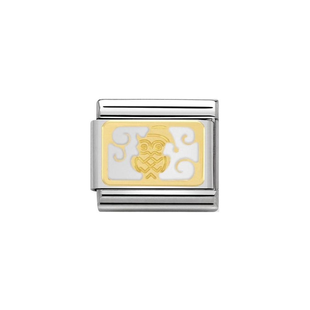Nomination - Link 18K Gold 'Świąteczna Sowa' 030160/08