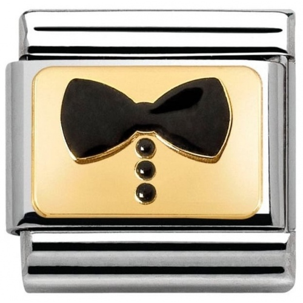 Nomination - Link 18K Gold 'Czarna Muszka' 030280/34