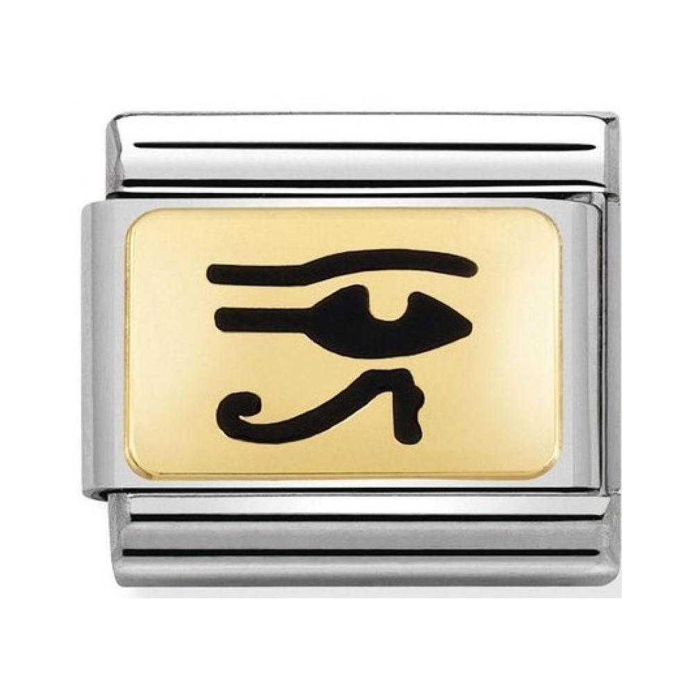 Nomination - Link 18K Gold 'Egipskie Oko' 030284/20