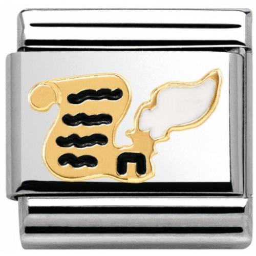 Nomination - Link 18K Gold 'List i Kałamarz' 030285/20