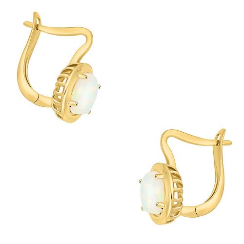 Złote kolczyki z opalami pr.333