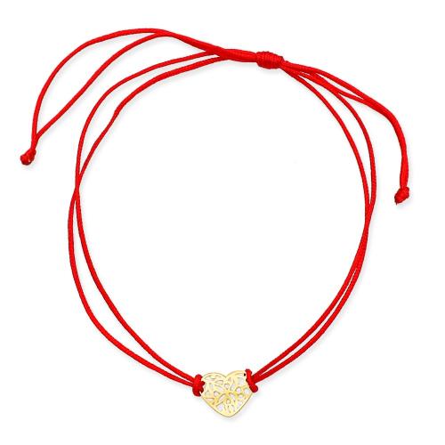 Bransoletka na sznurku - Ażurowe serce pr.585