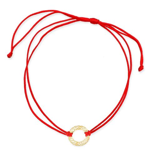 Bransoletka na sznurku - Ażurowy wianek pr.585