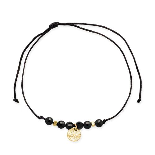 Bransoletka na sznurku - Ażurowe kółeczko pr.585