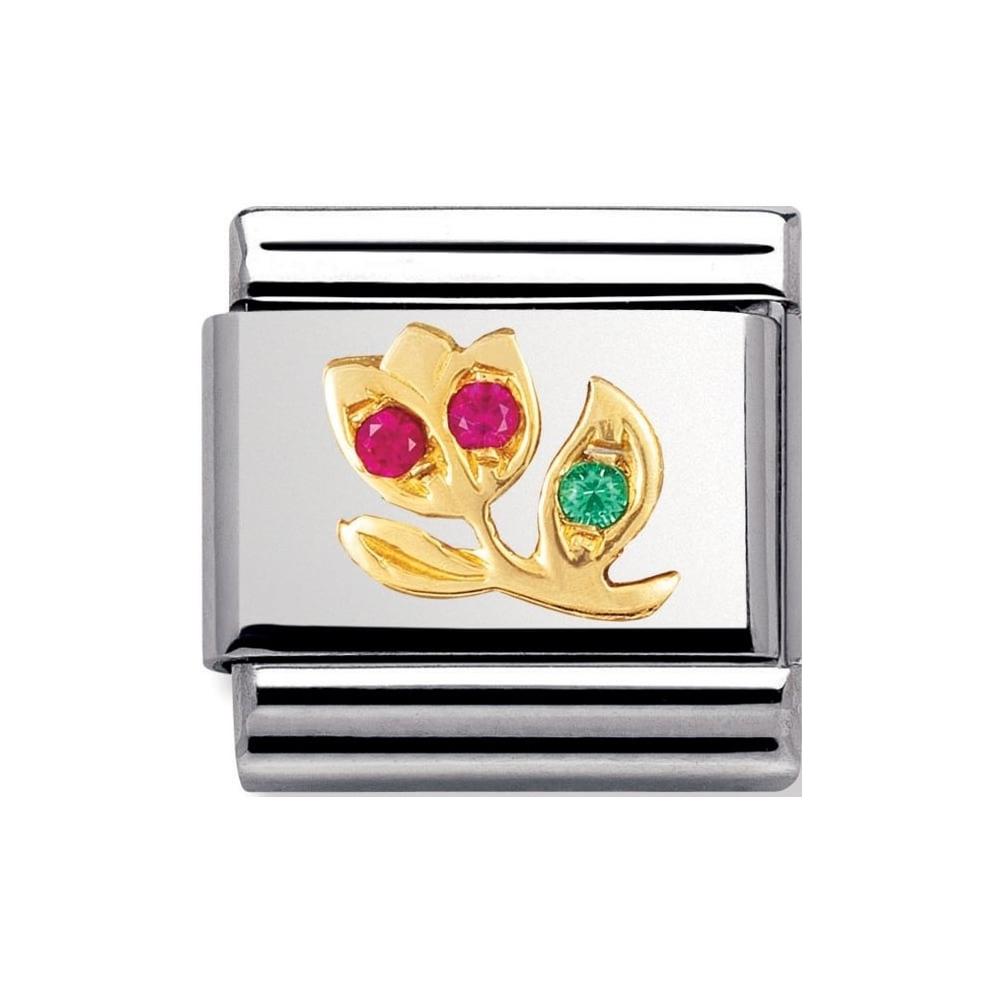 Nomination - Link 18K Gold 'Kwiatek' 030319/14