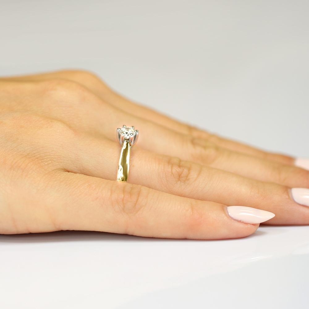 Pierścionek zaręczynowy z brylantem 0,25ct pr.585