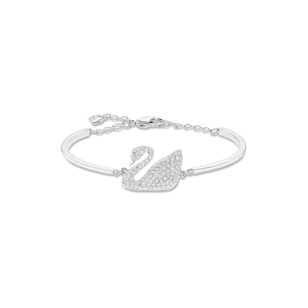 Bransoletka Swarovski - Swan Bangle, White, Rhodium Plated 5011990