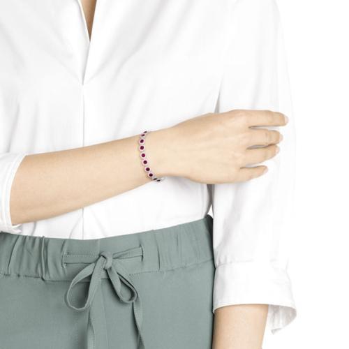 Bransoletka Swarovski - Angelic Bracelet, Red, Rhodium Plated 5446006