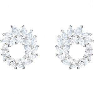 Kolczyki Swarovski - Louison Earrings, White, Rhodium Plated 5419245