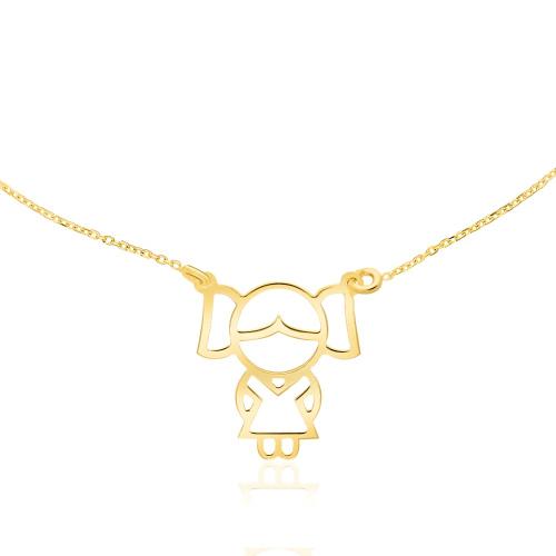 Złoty Naszyjnik Celebrytka - Dziewczynka pr.585