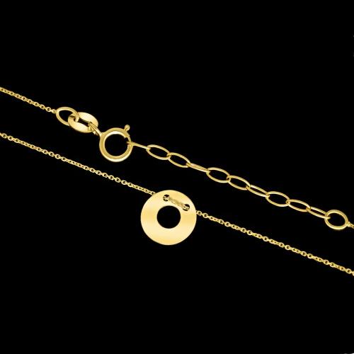 Złoty Naszyjnik Celebrytka - Kółeczko pr.333