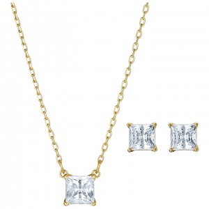 Zestaw Swarovski - Attract Set Square New, Gold 5510683
