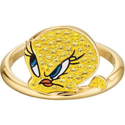 Pierścionek Swarovski - Looney Tunes Tweety Ltop, Gold