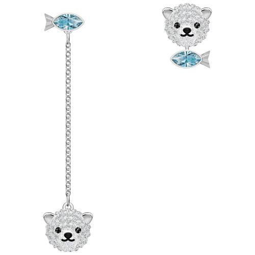Kolczyki Swarovski - Polar Bear, Silver 5488192