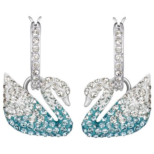 Kolczyki Swarovski - Iconic Swan Blue 5512577