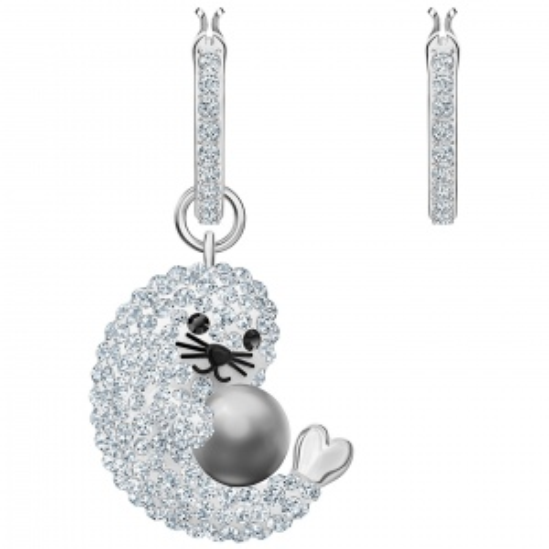 Kolczyki Swarovski - Polar Seal, Silver 5491550