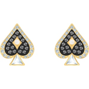 Kolczyki Swarovski - Tarot Magic Spades Stud, Gold 5510528