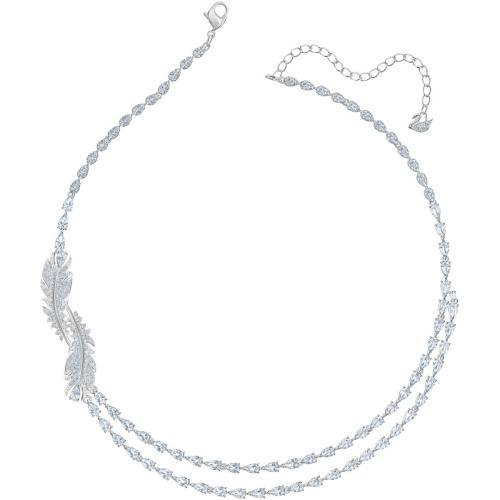 Zestaw Swarovski - Nice Set Feather, Silver 5517161