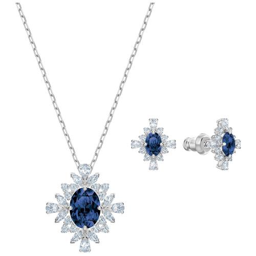 Zestaw Swarovski - Palace Set Sapphire, Silver 5498840