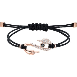 Bransoletka Swarovski - Hook, Black, Rose Gold 5494383