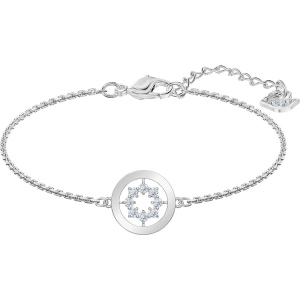 Bransoletka Swarovski - Further, White, Rhodium Plated 5499003