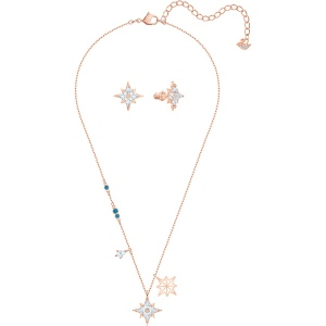 Zestaw Swarovski - Symbol Star Set, White, Rose-Gold 5517178