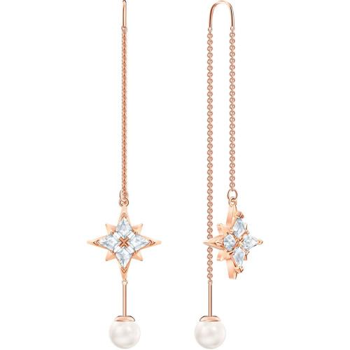 Kolczyki Swarovski - Symbolic Chain, White, Rose Gold 5494344