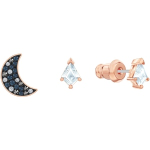 Zestaw kolczyków Swarovski - Symbolic Pierced Earrings Set, Multi-Colored, Rose-Gold 5494353