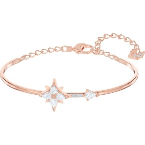Bransoletka Swarovski - Symbolic Bangle, White, Rose-Gold 5494338 M