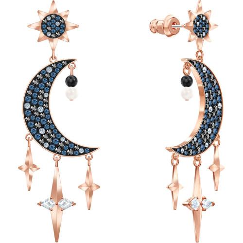 Kolczyki Swarovski - Symbolic Pierced Earrings, Multi-Colored, Rose Gold 5489536