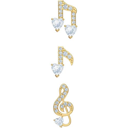 Zestaw kolczyków Swarovski - Pleasant, Gold 5491659