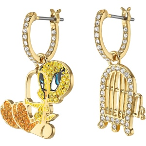 Kolczyki Swarovski - Looney Tunes Tweety Hoop Pierced Earrings, Multi-Colored 5487637