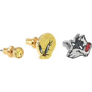 Zestaw kolczyków Swarovski - Looney Tunes Pierced Earrings, Multi-Colored 5487639